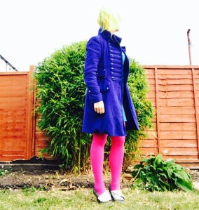 colourmeabi-irregular-choice-shoes-flick-flack-pink-tights-karen-millen-miltary-coat-manic-panic-sunshine-electric-banana