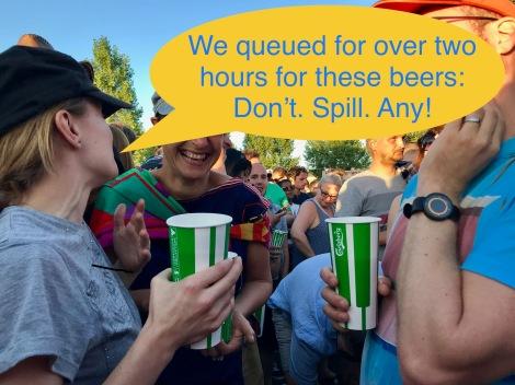 qosta june 2018 finsbury park iggy pop colourmeabi beer queue bar